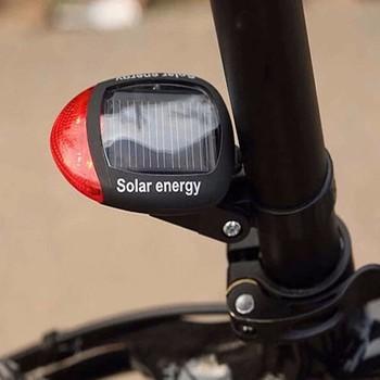 Słoneczny zasilany LED tylne migające światło tylne do rowerów lampa rowerowa bezpieczeństwa 2LED akcesoria rowerowe światła фонарь для велосипеда tanie i dobre opinie High Quality Light CN (pochodzenie) Bicycle Light Sztyc rowerowa SOLAR Drop shipping bike accessories accessoires