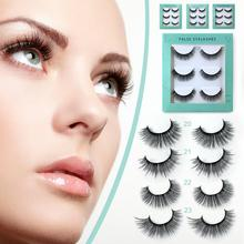 3 Pairs Fake Eyelashes Soft Handmade For Parties Weddings Photographs Reusable And Comfortable Wide Applicability