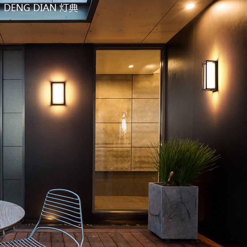 Modern dış aydınlatma su geçirmez led endüstriyel duvar lambaları alüminyum bahçe duvar ışıkları beyaz sundurma ışıkları balkon koridor 9W