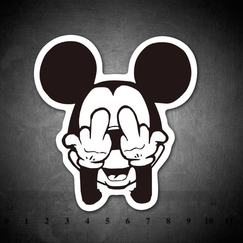 Cartoon Mickey Stickers Mouse Funny For Kids Laptop Car Guitar Luggage Skateboard Bicycle Waterproof PVC Stickers
