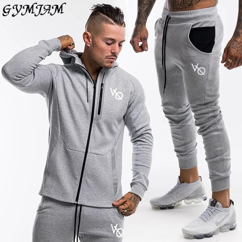 Gray Men's Suit 2020 Brand Men's Sportswear Fashion Men's Hoodie Plus Fashion Men's Pants Casual Jogger Streetwear Men's Wear