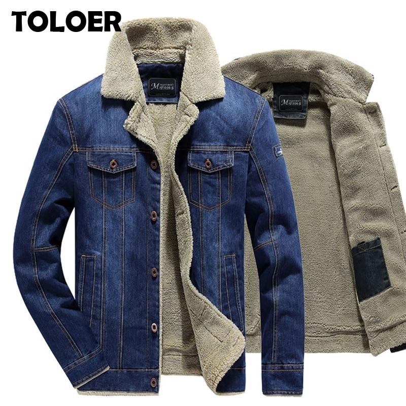 2020 зимняя мужская джинсовая куртка, Мужская модная повседневная джинсовая куртка, Мужская теплая Плотная джинсовая куртка, Мужское пальто с меховым воротником, куртка бомбер, верхняя одежда Куртки      АлиЭкспресс