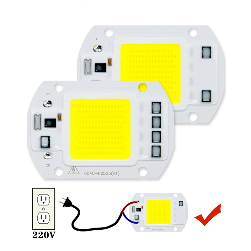 Real Power LED COB Chip 3W 5W 7W LED Lamp CHIP 20W 30W 50W  220V 240V Input IP65 Smart IC For DIY Outdoor LED Flood Light Chips