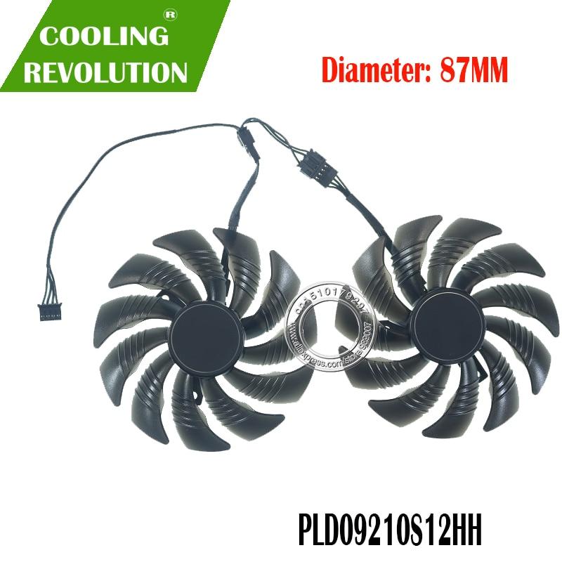 87MM PLD09210S12HH DC12V 0.40A 4PIN Graphics Fan Suitable For Gigabyte GTX 1660 Super GV-N1660 OC 6GD
