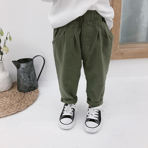 Spring Autumn boys girls 3 colors Cargo Pants kids casual all-match trousers 1-7Y