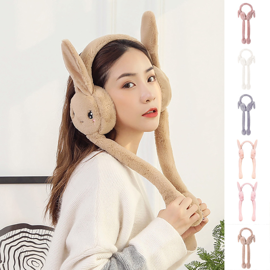 Unisex Foldable Winter Earmuffs Winter Windproof Ear Warmer Moving Earmufuffs Plush Female Earmuff Warm Ear Muffs Headphones