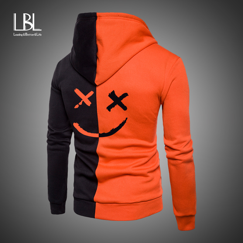 Fashion Smiling Face Printed Hoodies Women/Men Long Sleeve Hooded Sweatshirts 2019 Brand Tops Casual Trendy Streetwear Hoodies