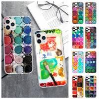 Juego de acuarelas para móvil, caja de Pintura transparente para Huawei P20 P40 Lite P30 Pro P Smart 2019 Honor 10 10i 20 Lite