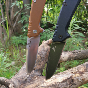 Image 1 - Ball Bearing Folding Knife D2 Blade G10 Handle Camping Hunting Survival Knives Pocket Outdoor Knife EDC Tool with Waist Clip