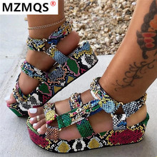 Big Size 35-43 Brand New Luxury Ladies Colorful Wedges Gladiator Sandal