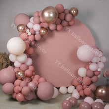 Birthday-Party-Decoration Balloons Pastel Wedding-Anniversary Rose-Gold Pink Globals