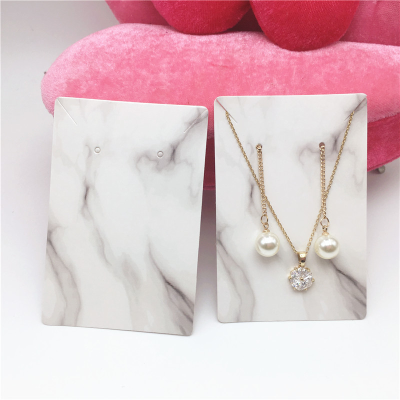 24Pcs 9x6cm Various Styles Earrings Card Favor Jewelry Card Ear Studs Necklace Holder Display Packaging Cards Label Tags