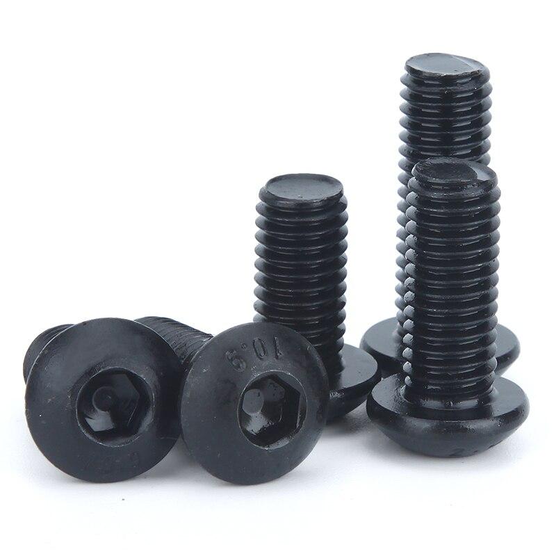 Noires Lot de 50/vis /à t/ête cylindrique /à six pans M3 en acier alli/é