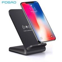 FDGAO 15W Qi kablosuz şarj cihazı iPhone için standı 12 11 Pro 8 X XS MAX XR Samsung S20 S10E s9 not 20 10 hızlı şarj telefon tutucu