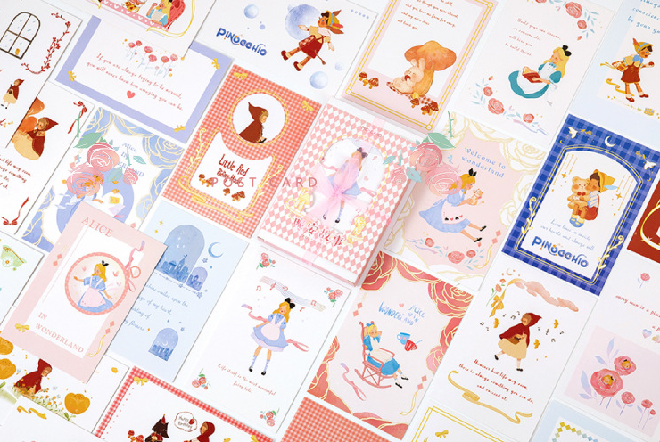 Night Story Paper Postcard(1pack=30pieces)