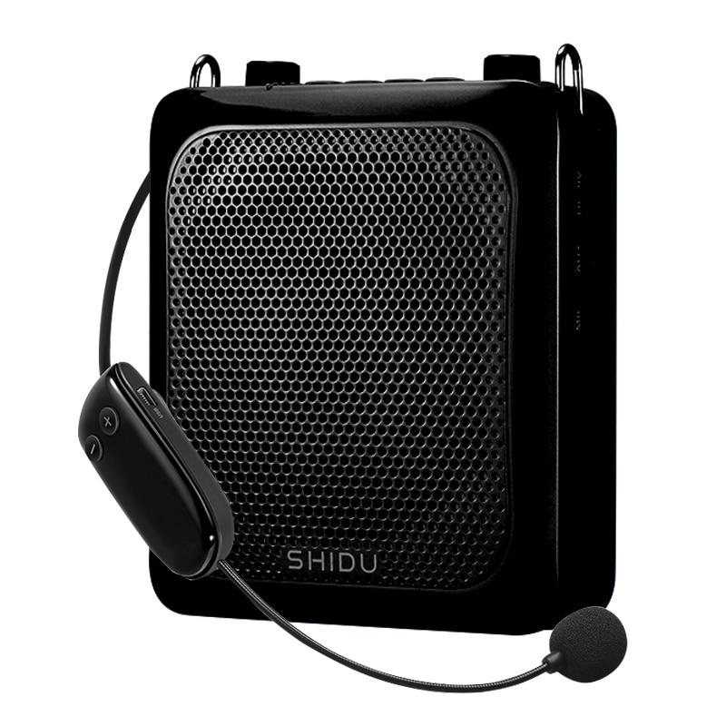 UHF Wireless Bluetooth Voice Amplifier 30W Portable Music Player Megaphone With Mic Belt Support AUX U Disk USB Mini Loudspeaker