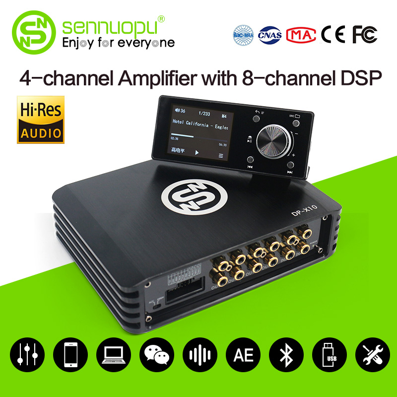 Sennuopu автомобиля DSP процессор 4 канальный усилитель 8 Каналы цифрового звука процессоры с ЖК-дисплей пульт дистанционного управления