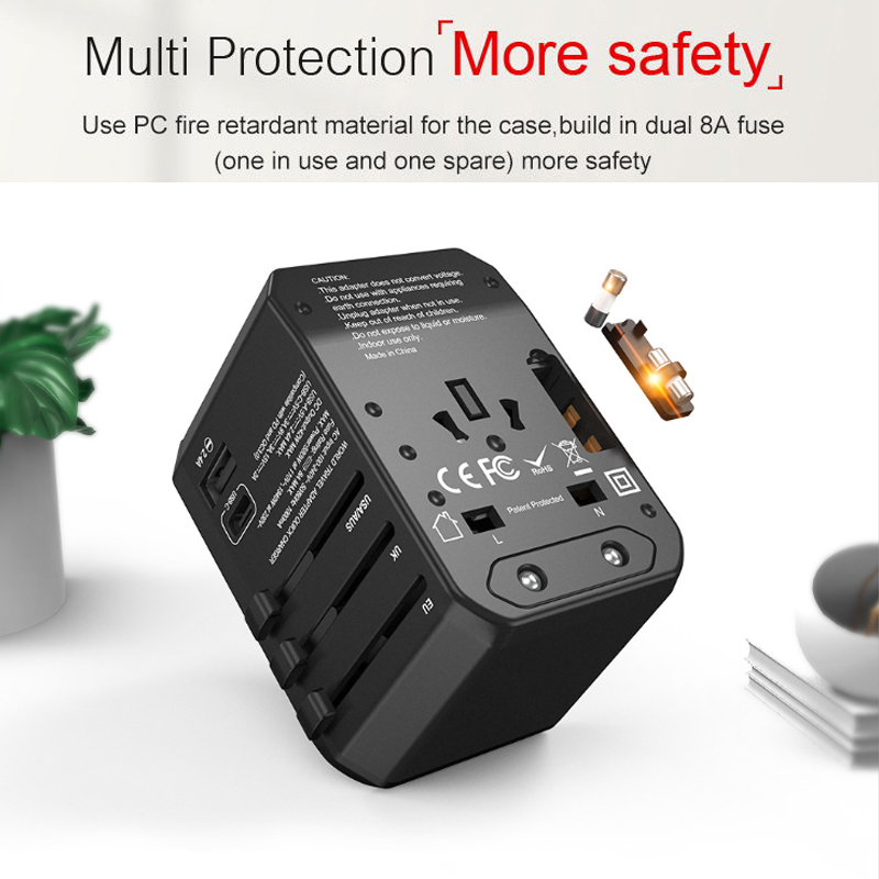 cheapest 45W PD Universal Travel Adapter with type-c PD45W QC3 4 wall Charger for Macbook Pro Ipad Pro2018 tablet pc laptop charger usb c