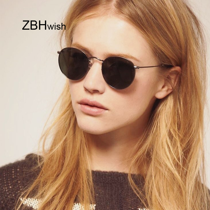 New Classic Round Sunglasses Women/Men Small Vintage Retro Sun Glasses Female Ladies Driving Metal Eyewear Oculos De Sol