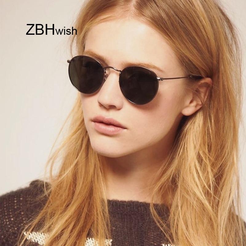 New Classic Round Sunglasses Women/Men Small Vintage Retro Sun Glasses Female Ladies Driving Metal Eyewear Oculos De Sol