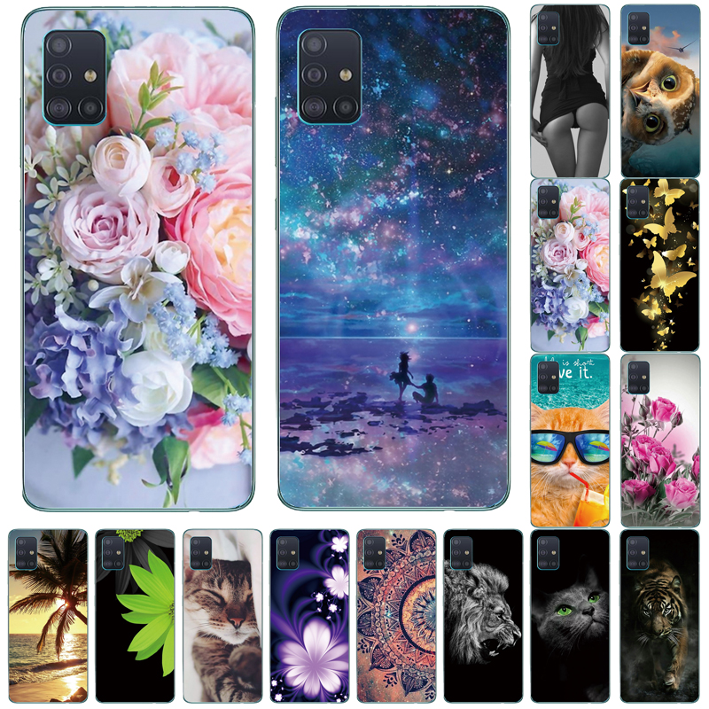 For Samsung Galaxy A51 Case 2019 NEW Fashion Silicon Soft TPU Back Cover Coque For Samsung A51 A 51 Phone Cases A51
