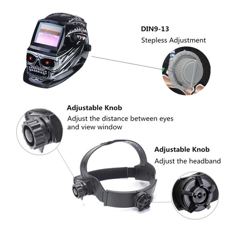 Auto Helmet For Electric Solar Welding Welding Darkening Adjustable Powered Mask MMA MIG Range Welding Efficient Machine Lens
