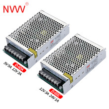 NVVV 60W Double Output Switching Power Supply 5V 12V, 5V 24V, 12V 24V Power Supply Transformer ac dc converter D-60A D-60B D-60C