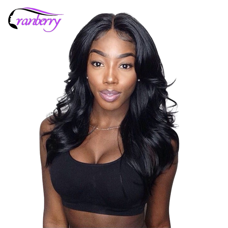 Cranberry Hair 4X4 Closure Wig Brazilian Body Wave Lace Front Human Hair Wigs Remy Hair Wigs