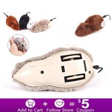 Hot Creative Funny Clockwork Lente Power Pluche Muis Speelgoed Kat Hond Spelen Speelgoed Mechanische Motion Rat Pet Accessoires