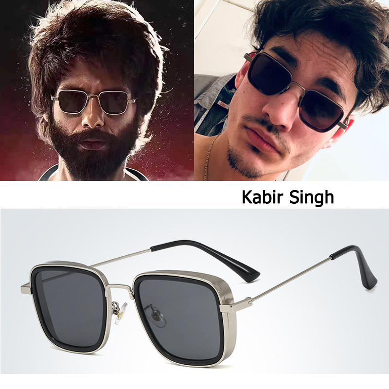 DPZ NEW Fashion Kabir Singh SteamPunk Style aviation men Sunglasses Cool Popular Brand Design rayeds Sun Glasses Oculos De sol