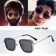 DPZ NEW Fashion Kabir Singh SteamPunk Style aviation men Sunglasses Cool Popular Brand Design rayeds Sun Glasses Oculos De sol