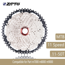 купить ZTTO Mountain Bike MTB 11 Speed Cassette 11S 50T Bicycle Parts Wide Ratio Freewheel Sprocket For M7000 M8000 M9000 Sunrace 580g по цене 2960.86 рублей