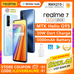 realme 7 8GB RAM 128GB ROM Global Version 30W Dart Charge 48MP Quad Camera 90Hz Display Helio G95 Gaming CPU 5000mAh Battery New