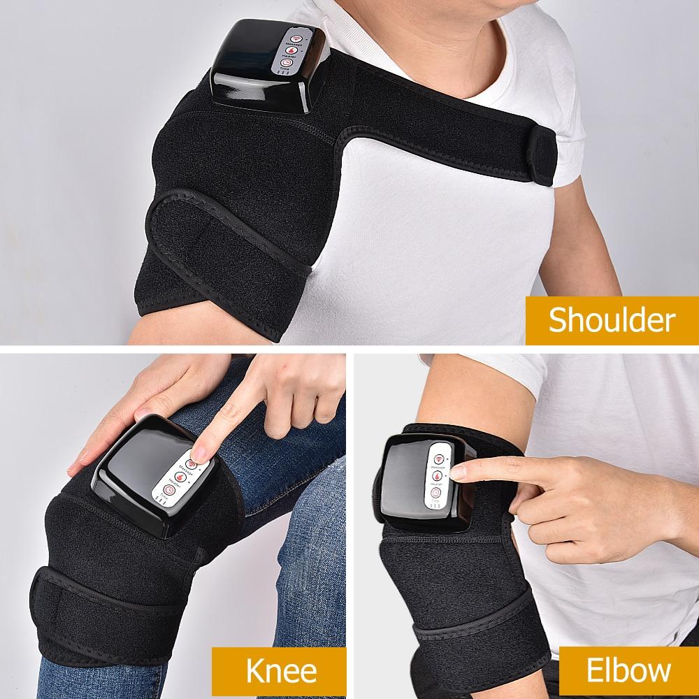 Electric Heating Knee Massager Far Infrared Joint Brace Support Vibrador  Back Shoulder Massage Knee Pain Relief Massageador Leg Massage Apparatus  -  AliExpress