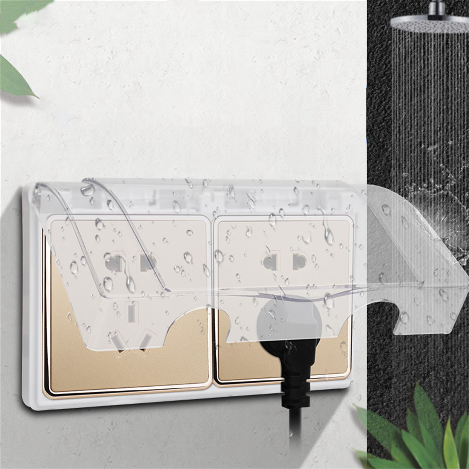 Type 86 Splashproof Box Adhesive Transparent Socket Protective Cover Switch Waterproof Dust-Proof High Quality Household Tool#35