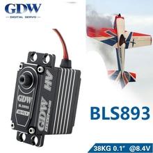 Металлический рулевой механизм GDW BLS893 BLS893HV 78 г, максимальный крутящий момент 38 кг, большая модель автомобиля с фиксированным крылом, робот рулевой механизм
