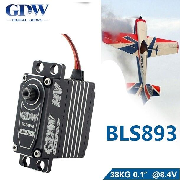 GDW BLS893HV 78g Metal Steering Gear 38kg Maximum Torque Large  Fixed Wing Vehicle Model Robot Steering GearParts