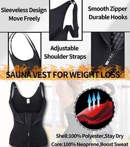 Image 4 - נשים Neoprene Shaperwear מותן Traine לדחוף את אפוד בטן בטן מחוך גוף Shaper מותן Cincher מחוך Faja חגורת הרזיה