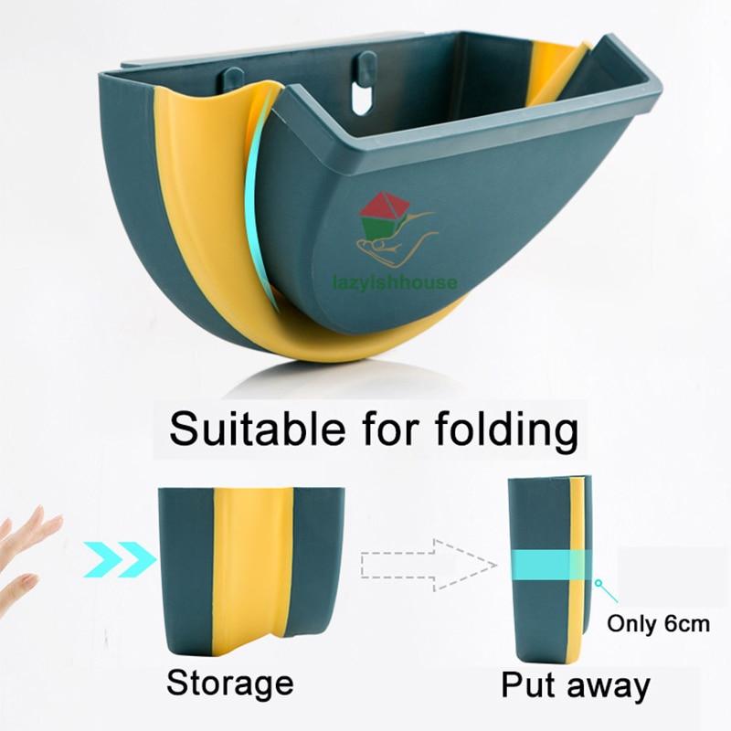 large foldable kitchen trash plastic storage box organizer for kitchen accessories storage basket kitchen storage box/rack Shelf 3