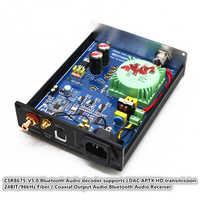 Decodificador de Audio CSR8675 Bluetooth 5,0 compatible con LDAC APTX transmisión HD 24BIT/96kHz fibra Coaxial salida Bluetooth Audio receptor