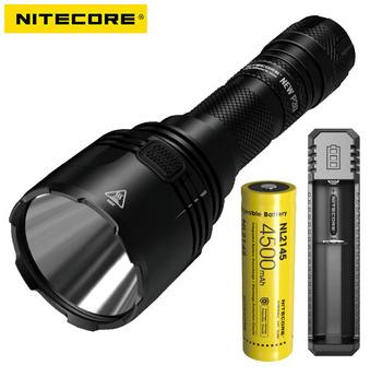Nowy Nitecore nowy XP-L P30 Cree HI V3 1000 lumenów latarka LED + ładowarka nitecore UI1 + bateria nitecore 3500mah tanie i dobre opinie FENIX CN (pochodzenie) Reflektory