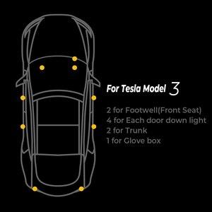 Image 5 - For Tesla Model 3/Model X/Model S에 사용되는 업그레이드 Led 내부장식등 설치하기가 쉬운 LED등