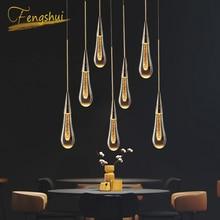 أضواء قلادة عصرية فاخرة من Cyrstal بطلاء ذهبي يصلح للاستخدام في المطبخ وقاعة الفنادق مصباح معلق على ضوء الشمال مصباح إضاءة على شكل قلادة فنية لغرفة النوم