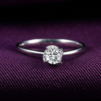 1 Carat 18k Gold And White Diamond Engagement Ring
