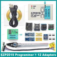 Preço de fábrica! Computador, versão mais nova ezp2019 spi programador de alta velocidade usb com suporte 24 25 93 eeprom 25 flash bios chip + 5 soquete