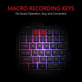 RedThunder One-Handed Gaming Keyboard RGB Backlit 6400dpi Macro Programming Mouse Combos,Portable Mini Keypad for Laptop PC 4