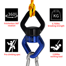 Yoga döner döner alüminyum tespit segmanı çok aracı tırmanma halka 30kN koruma döndürücü dönme salıncak ultralight halat mavi kırmızı