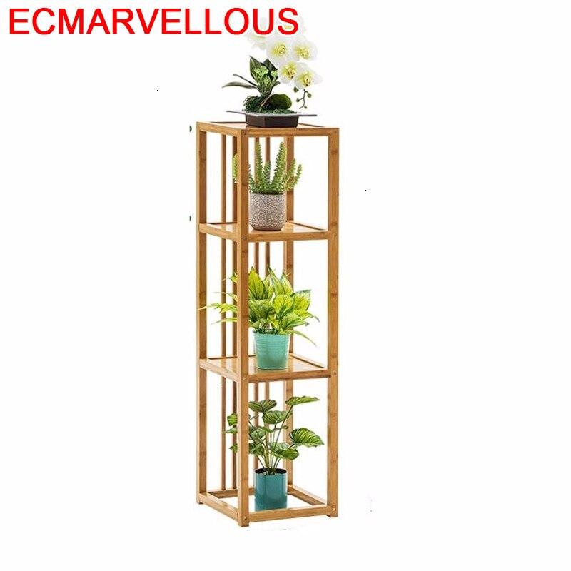 Porta Piante Plantenrekken Garden Wooden Shelves For Varanda Rack Outdoor Balcony Flower Shelf Stojak Na Kwiaty Plant Stand