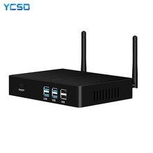 Ycsdインテルcoreミニpc i3 7100U i5 7200U i7 4500U windows 10 htpc 4 18kネットトップオフィスコンピュータhdmi vga wifi 4xUSB3。0 2xUSB2。0