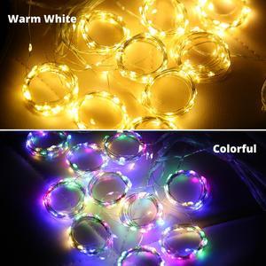 Image 1 - Cortina de alambre de cobre con luces LED para Navidad 300, 3x3m, ventana parpadeante, hada IP65, 5V, mando a distancia, IR a boda, fiesta y vacaciones